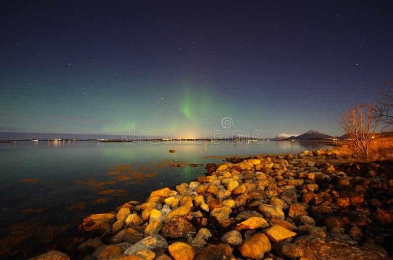 Borealis da Aurora imagens de stock