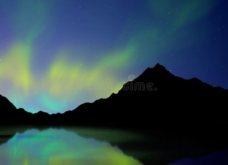 Borealis de l'aurore illustration stock