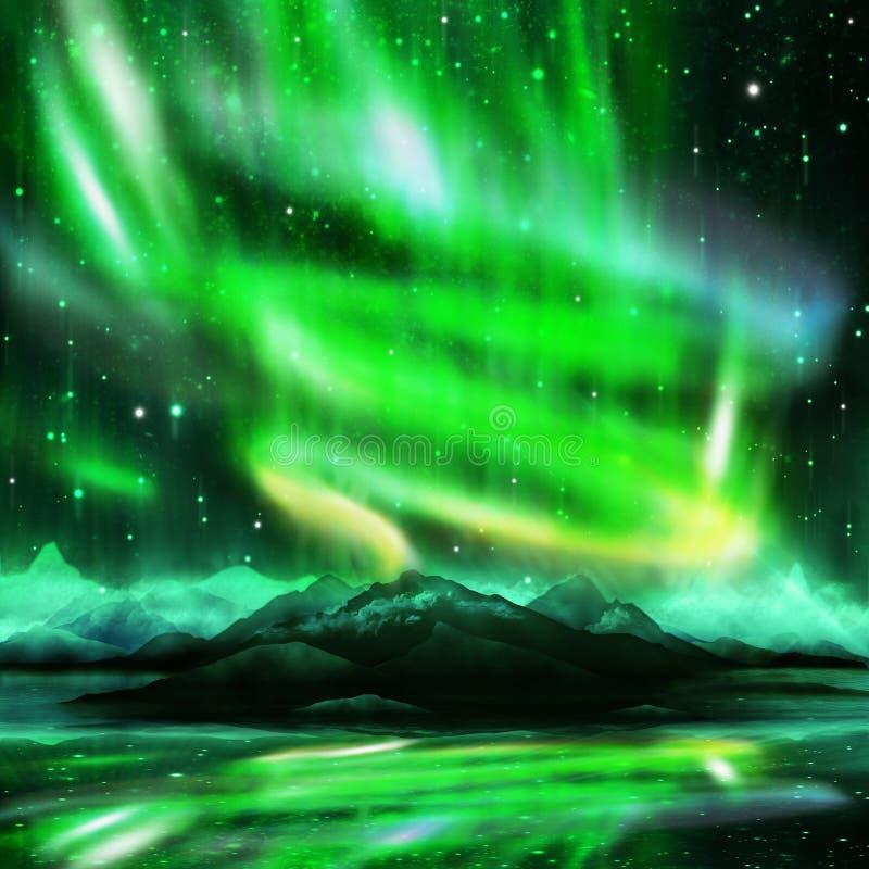 Borealis de l'aurore illustration libre de droits