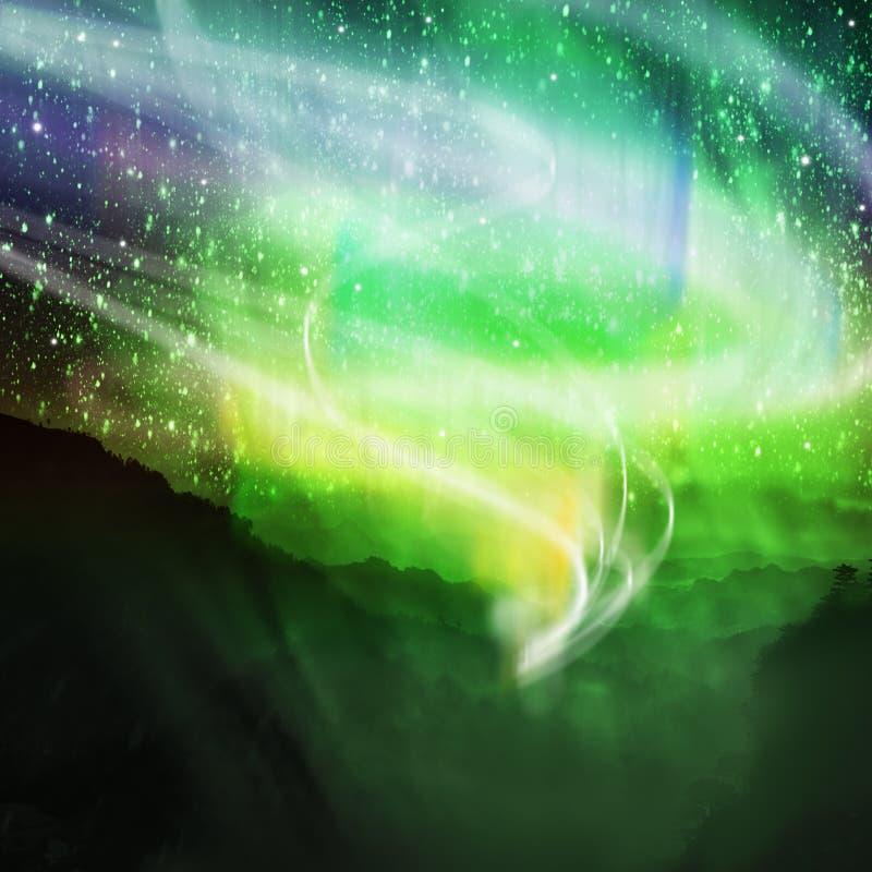 Borealis de l'aurore illustration de vecteur