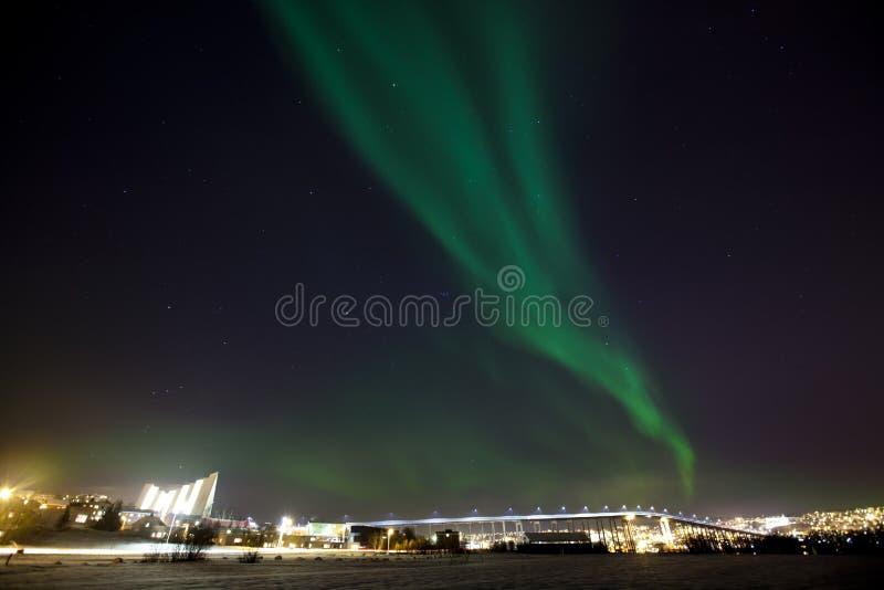 Borealis dell'aurora immagini stock libere da diritti
