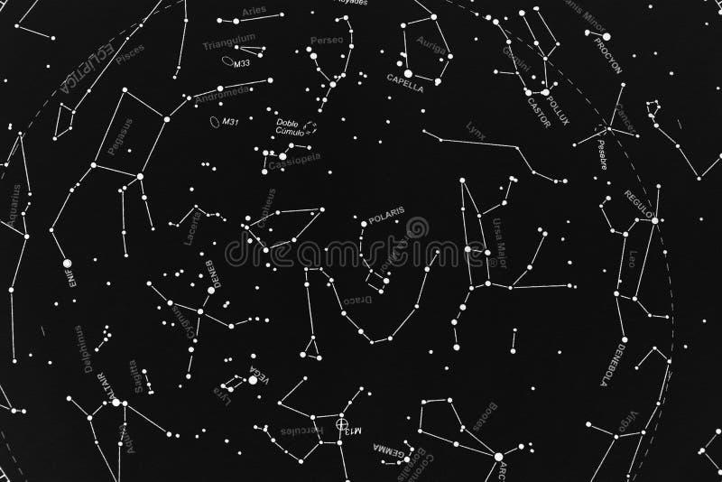 Borealny skymap obraz stock