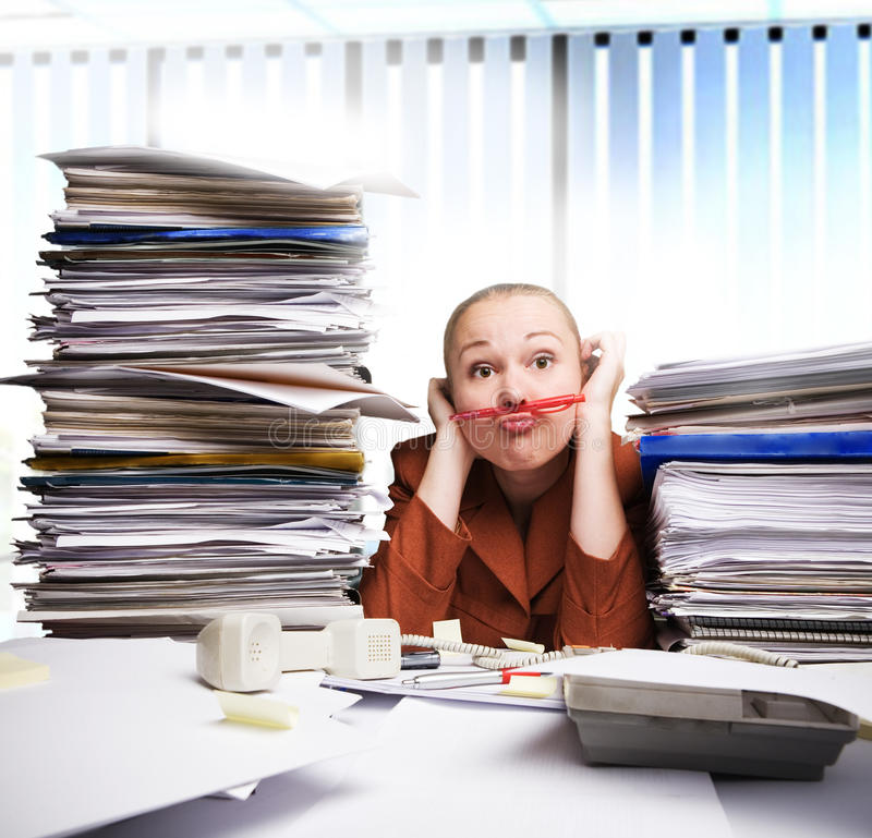 Free Bored At The Office Royalty Free Stock Photography - 22881807
