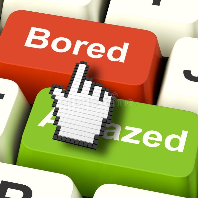 Bored Boring Computer toont Verveling of verbaast Reactie stock illustratie