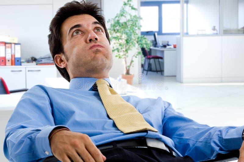 Download Bored businessman stock photo. Image of desk, brunette - 26611350