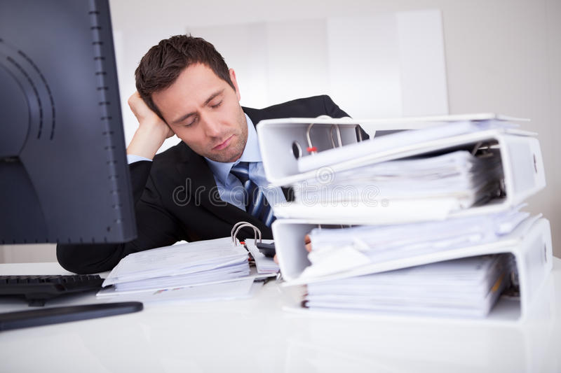 Bored Businessman stock image