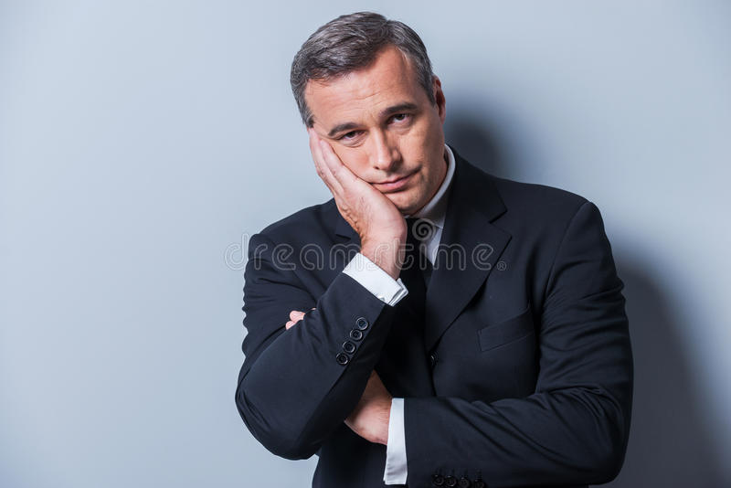 Bored businessman. stock photo