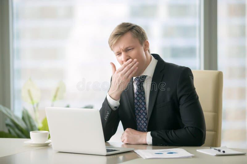 Bored businessman stress stock photos