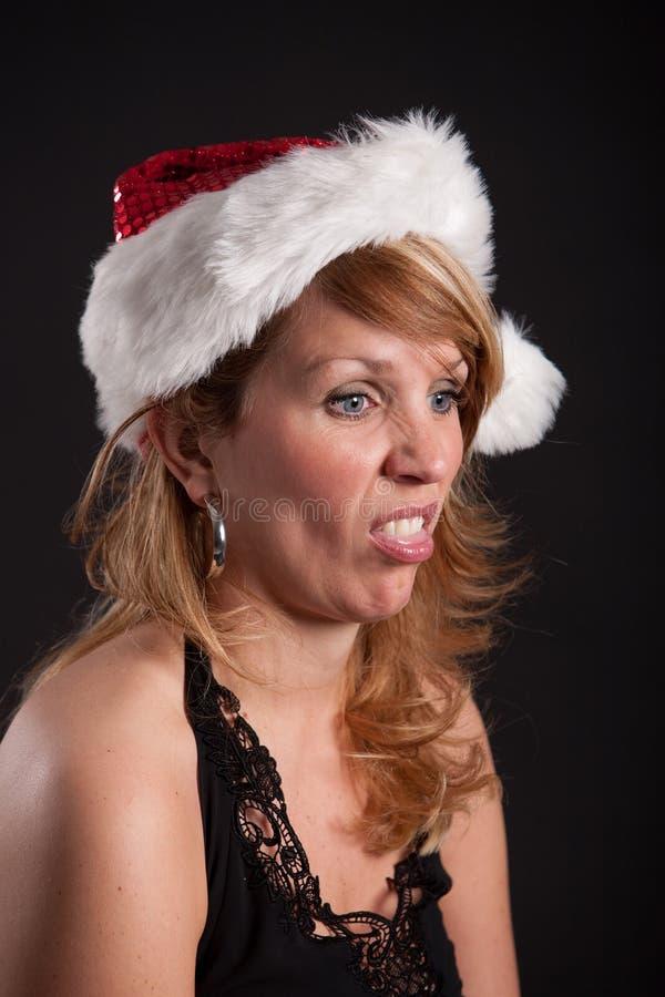 Bored at christmas stock photo