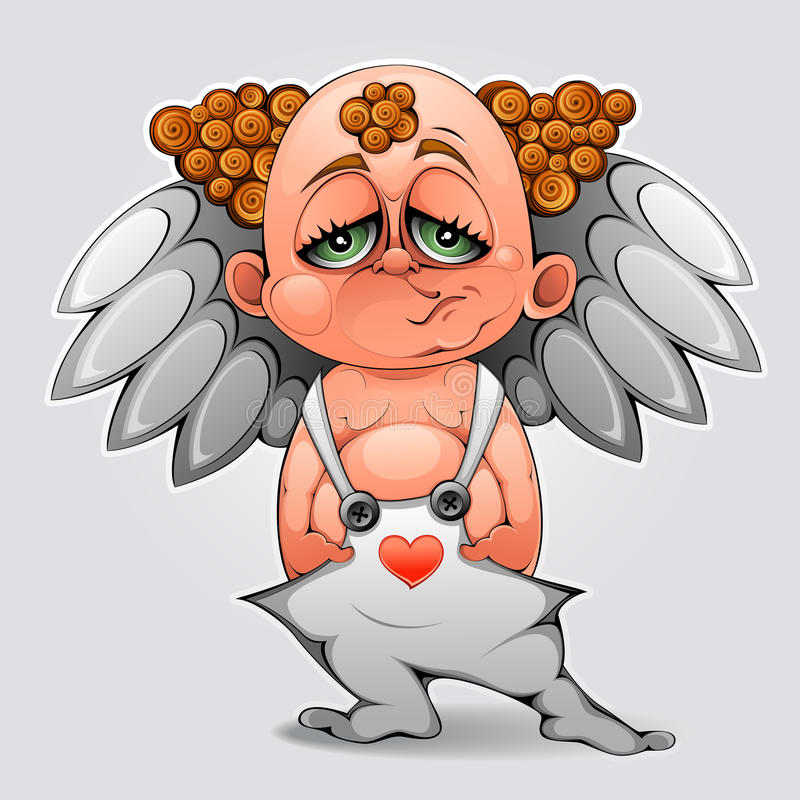 Bored Cupid Stock Image