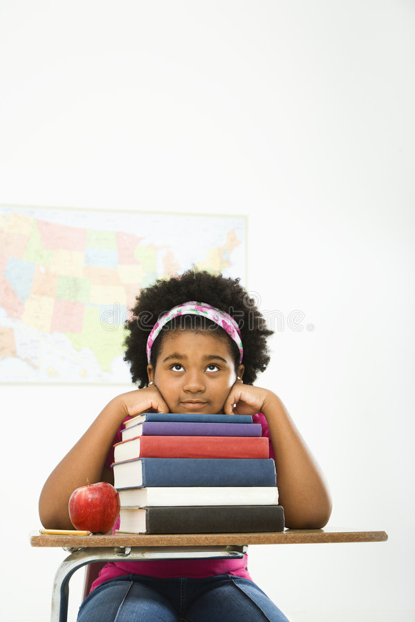 Download Bored Girl With Books. Royalty Free Stock Image - Image: 3422986