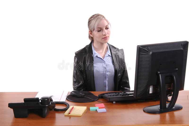 Download Bored Office Worker stock image. Image of person, bored - 225719