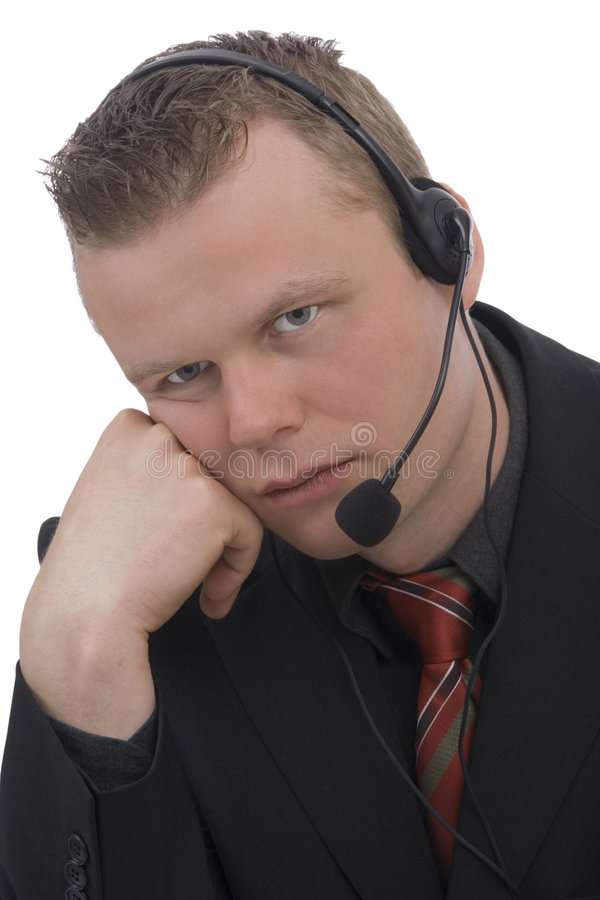 Bored operator royalty free stock images