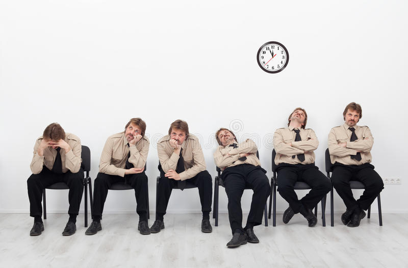 Download Bored people waiting stock image. Image of line, sitting - 27875927
