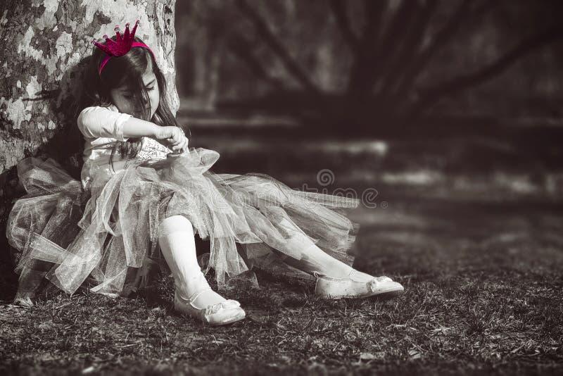 Bored prinses stock afbeelding