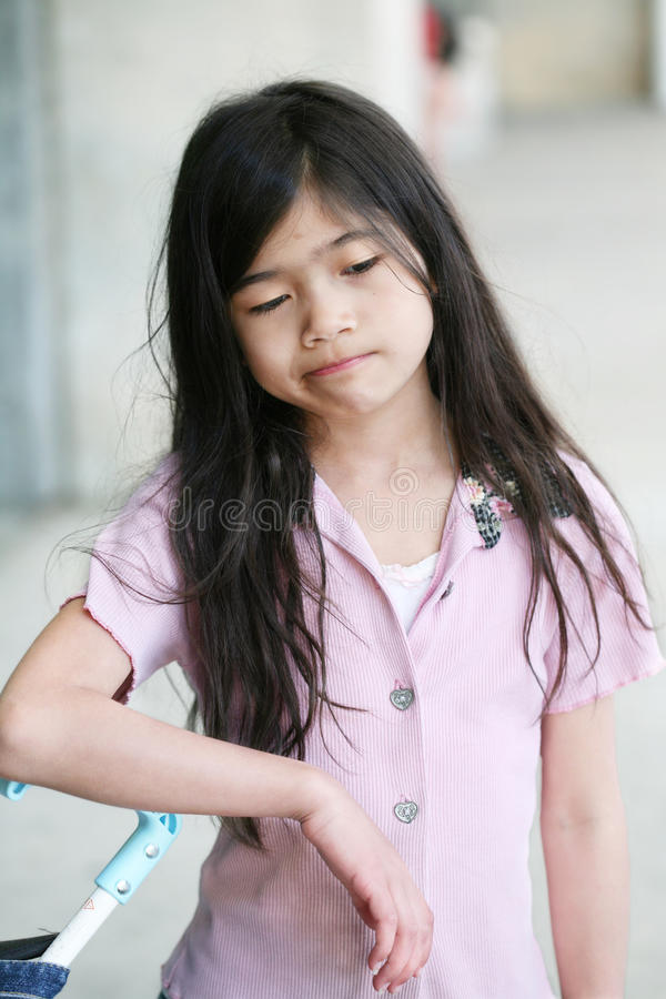 Bored, sad, depressed girl