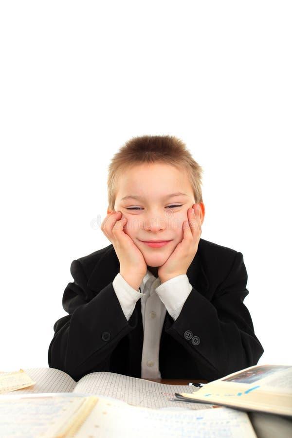 Download Bored schoolboy stock image. Image of desk, portrait - 22946161