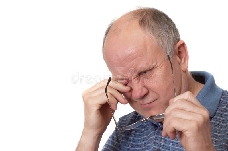 Bored senior man stock images