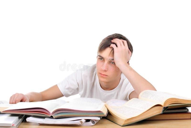 Bored student stock afbeeldingen