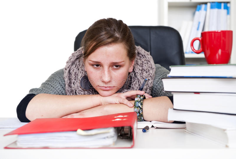 Download Bored student stock image. Image of notes, young, natural - 17626957