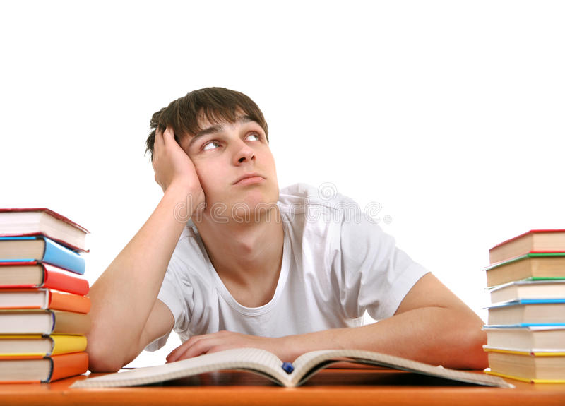 Bored Student stock images