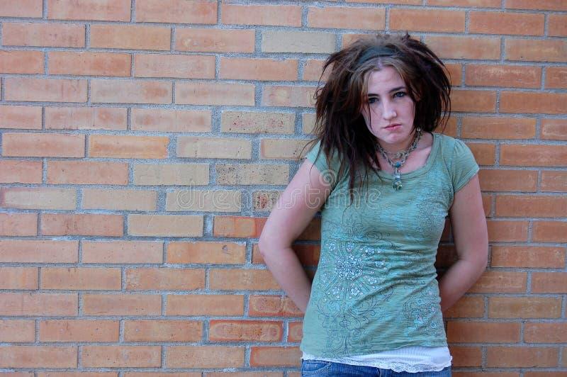 Bored teenage girl royalty free stock photo