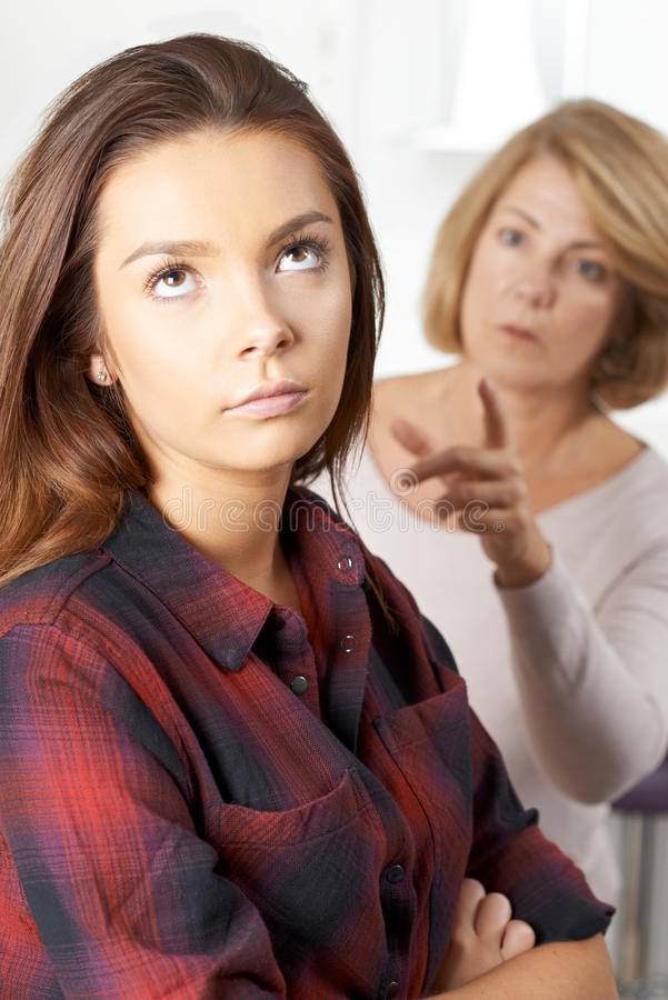 Free Bored Teenage Girl Being Told Off By Mother Stock Image - 80834161