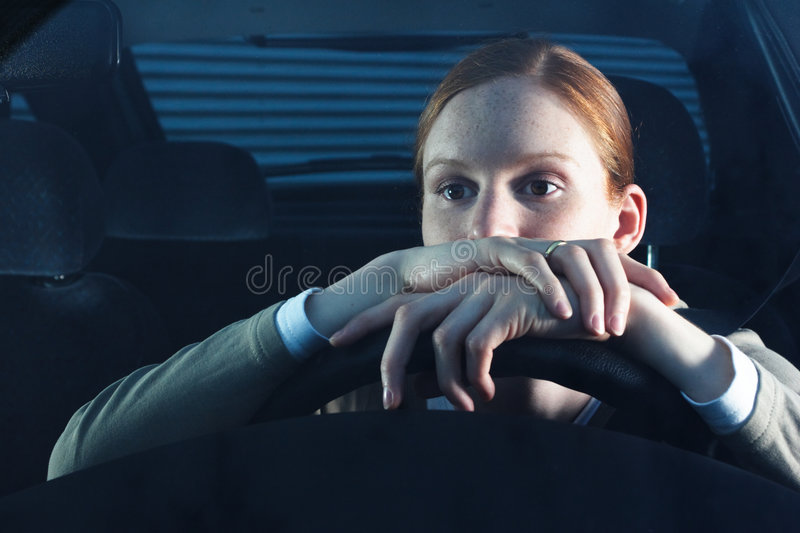 Download Bored Woman Driver stock image. Image of expression, lonesome - 5517537