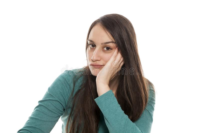 Bored woman stock images