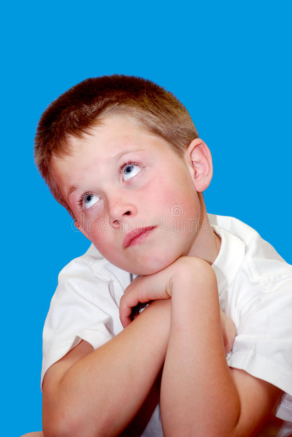 Bored young child royalty free stock photos