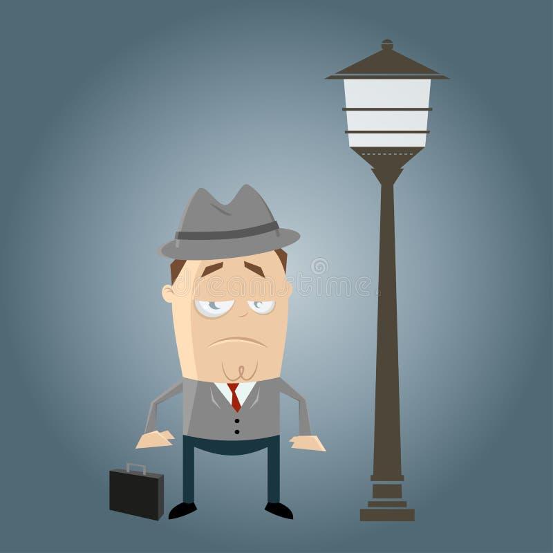 Bored zakenman wacht royalty-vrije illustratie