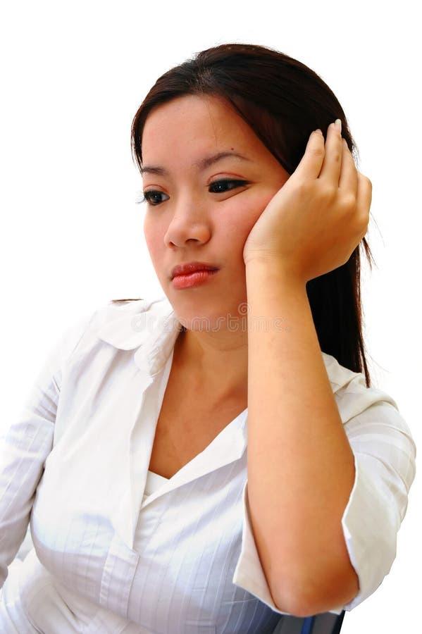 Boredom. A Bored Woman Employee stock photo