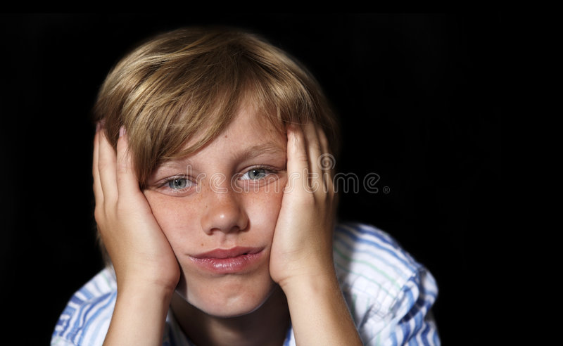 Download Boredom Strikes stock image. Image of alone, expression - 2588017