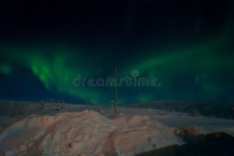 Borelias da Aurora em Leppäjärvi imagem de stock