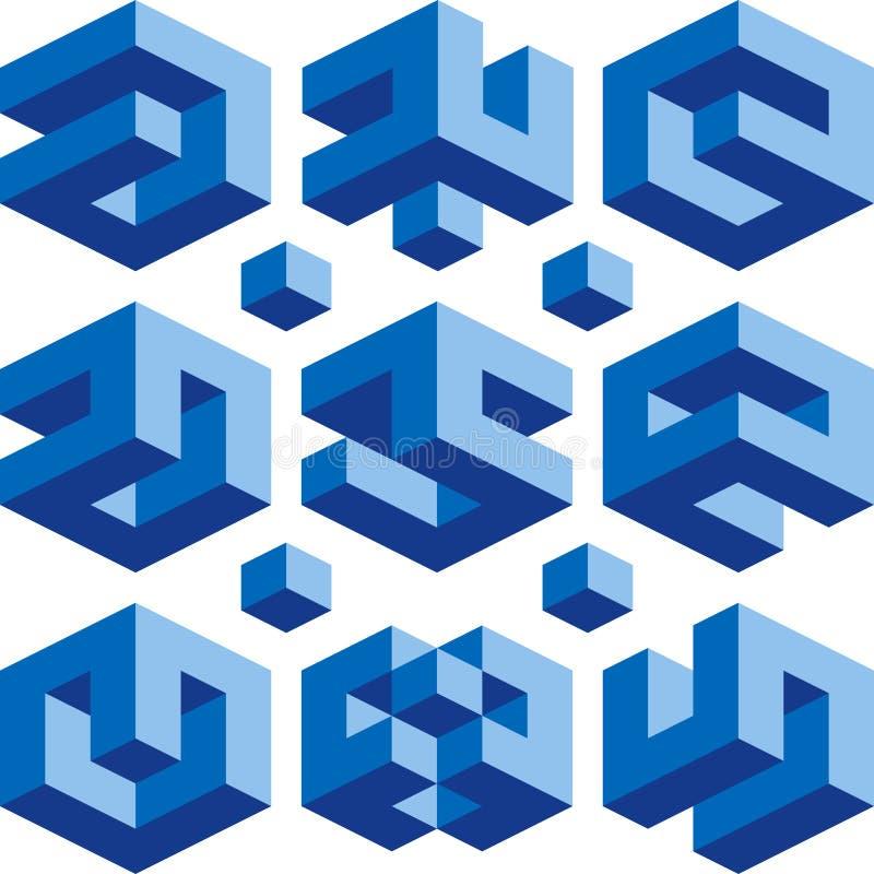 Borg logos stock illustration