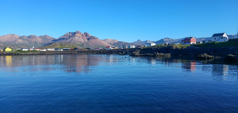 Borgarfjordur Eystri, Islanda fotografia stock