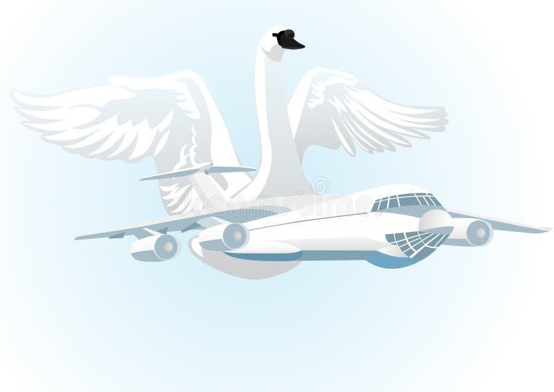 borgerligt flyg vektor illustrationer