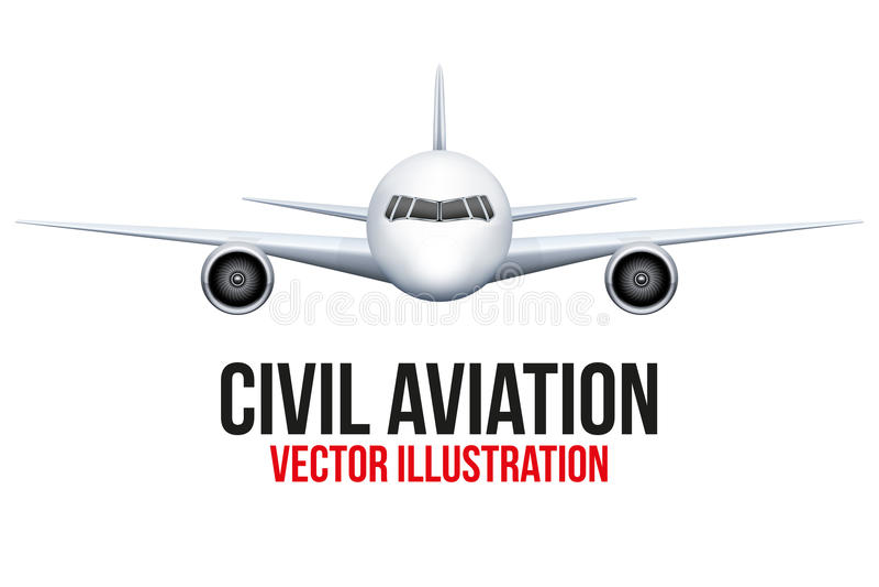 Borgerligt flygplan vektor illustrationer