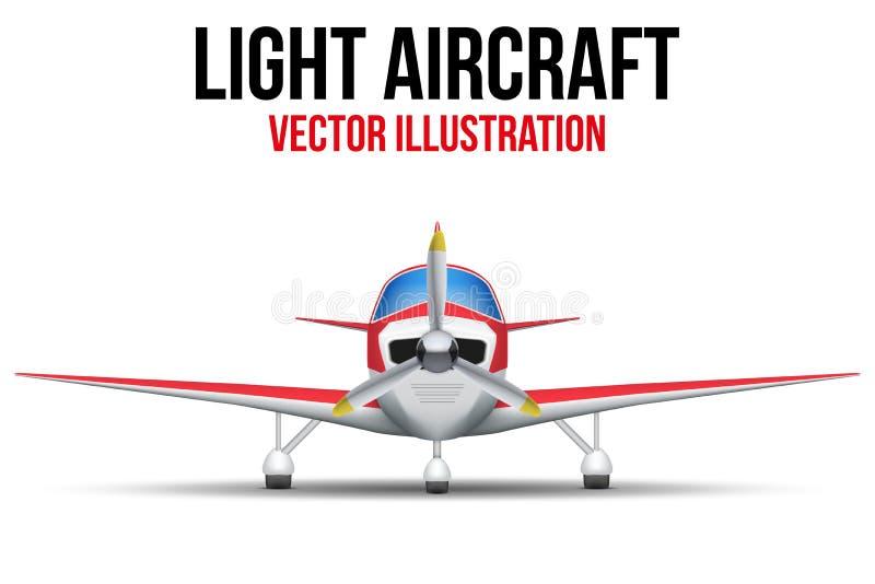 Borgerligt ljust flygplan vektor illustrationer