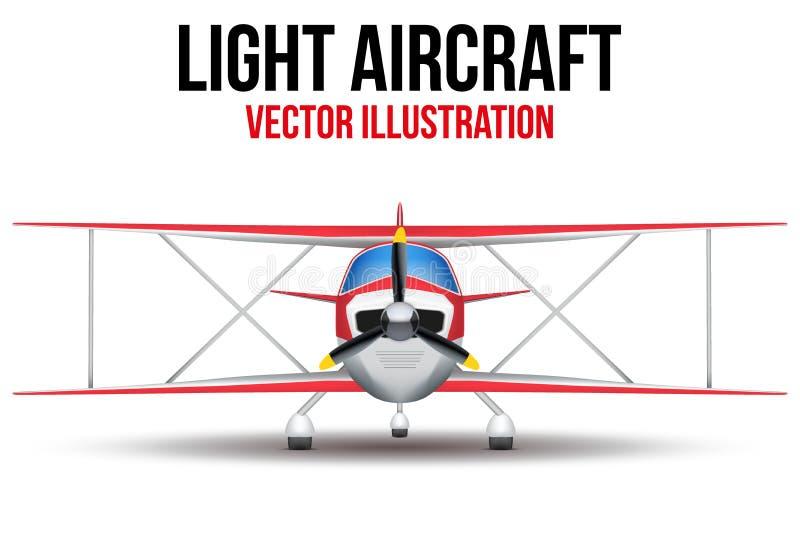 Borgerligt ljust flygplan för tappning stock illustrationer