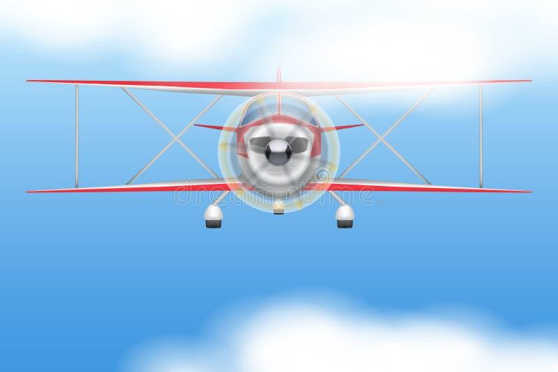 Borgerligt ljust flygplan för tappning vektor illustrationer
