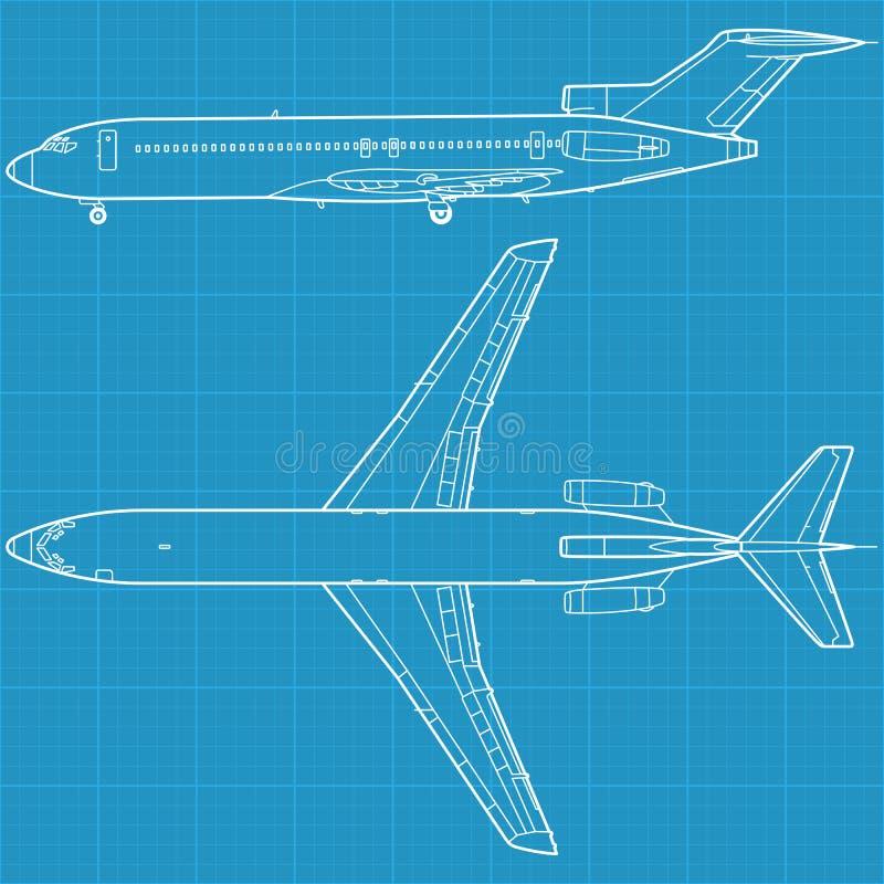 borgerligt modernt för flygplan vektor illustrationer