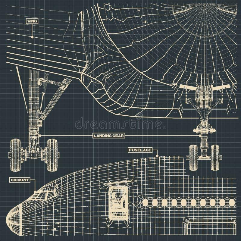 Borgerligt strålteckningsfragment royaltyfri illustrationer