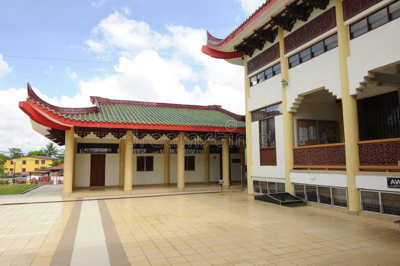 Borggård av Masjid Jubli Perak Sultan Ismail Petra a K A Masjid Peking fotografering för bildbyråer