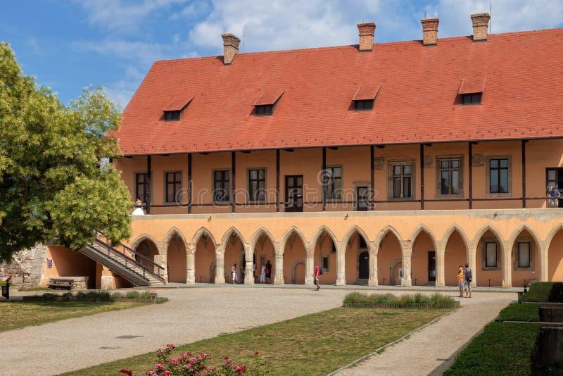 Borggård av slotten fotografering för bildbyråer