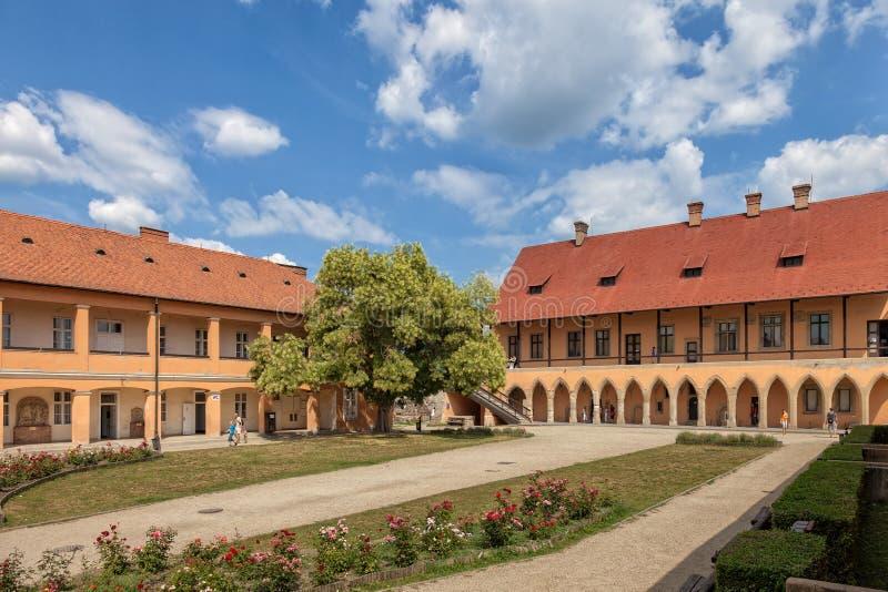 Borggård av slotten royaltyfria bilder
