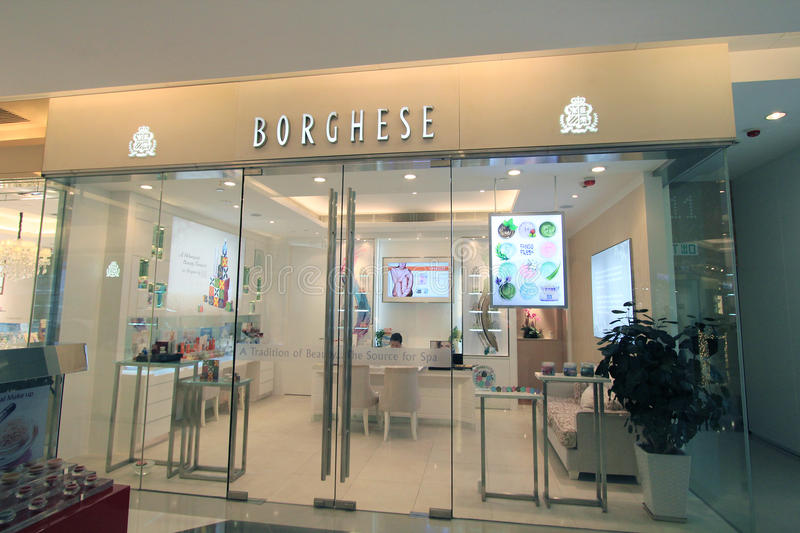 Borghese shop in hong kong. Borghese shop, located in K11 Mall, Tsim Sha Tusi, Hong Kong. borghese is a skin care products retailer in Hong Kong stock photos