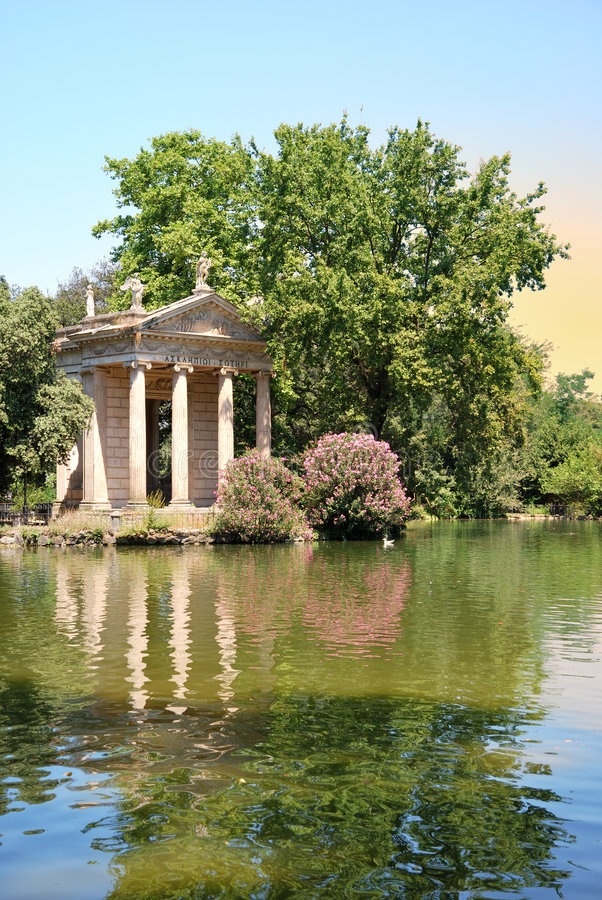 borghese trädgårdvilla royaltyfria foton