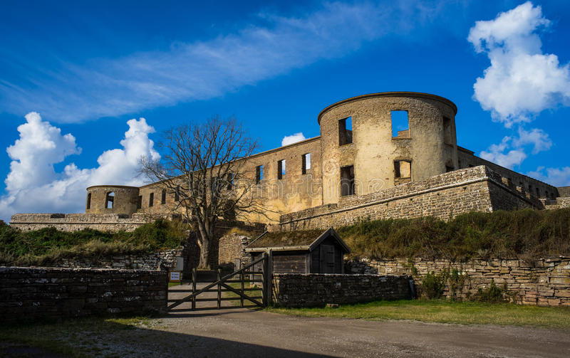 Borgholm Castle. In Öland, Sweden royalty free stock photo