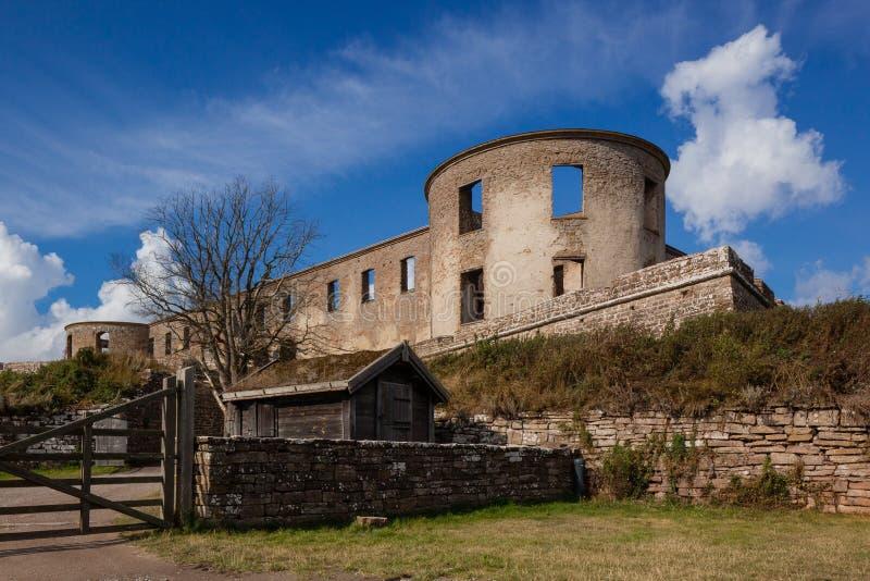 Borgholm Castle (Borgholm Slott). Öland, Sweden. The historic ruin in the beautiful island, Öland stock photos